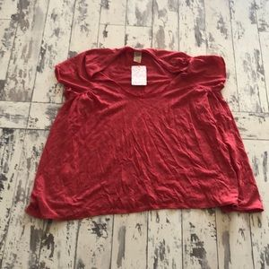 Free People oversized red top